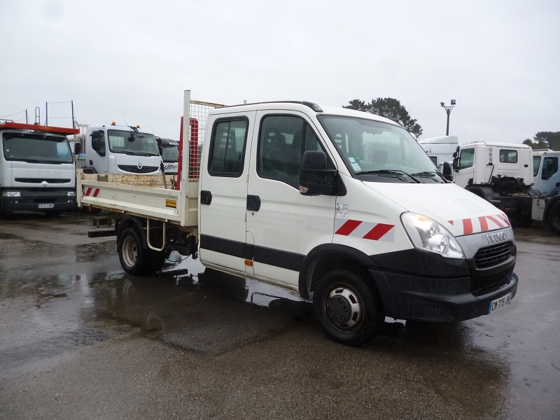Iveco DAILY BENNE DOUBLE CABINE 35C13 Diesel BLANC Occasion à vendre