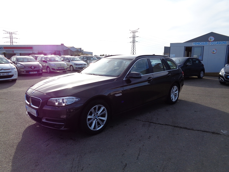 Bmw SERIE 5 (F10) TOURING 520DA 190CH LOUNGE PLUS Diesel MARRON Occasion à vendre